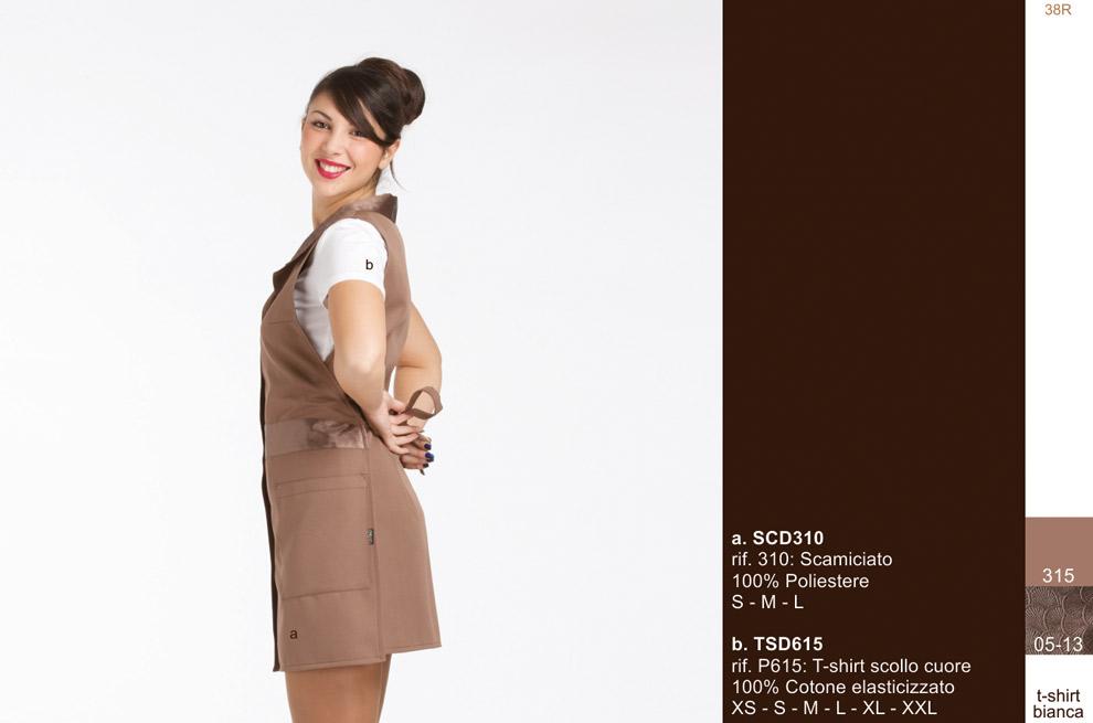 Creativity abiti per baristi-camerieri receptionist-hostess-barman-barmaid-waiters-waitress