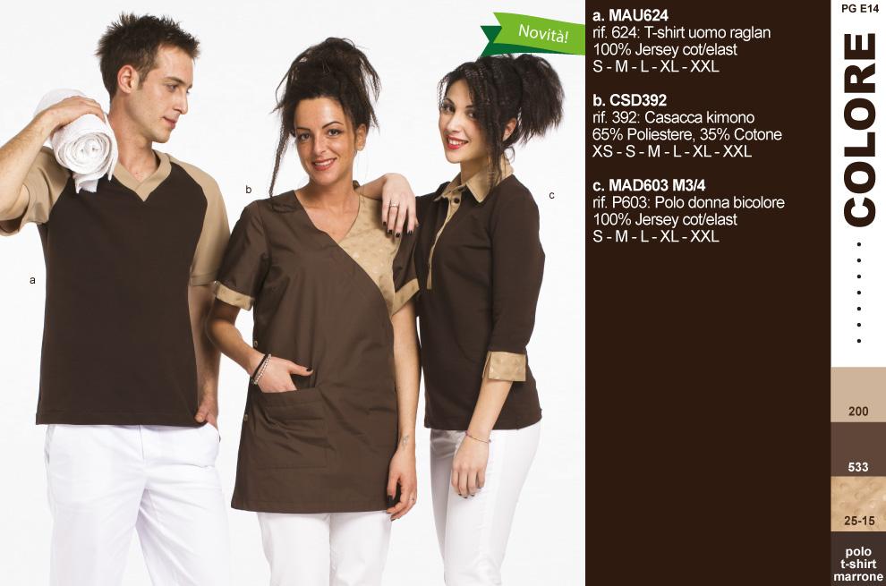Camici grembiuli pantaloni kimono magliette polo per for Uniform spa italy