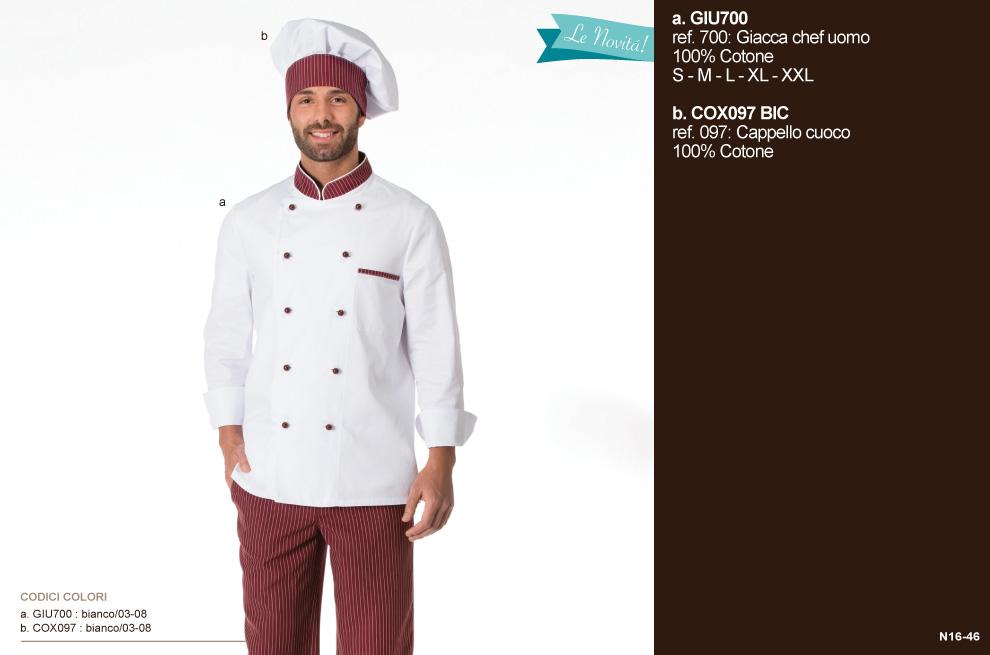 Abbigliamento professionale chef cuoco ristornate giacche