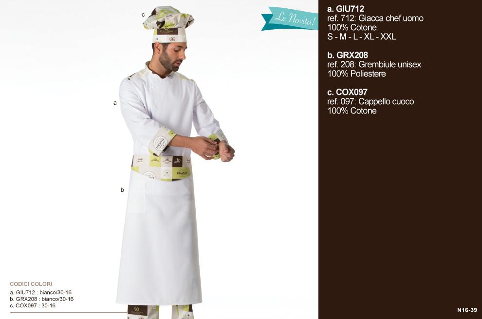 Giacche Chef ‐ pantaloni cuoco Vicenza Italia