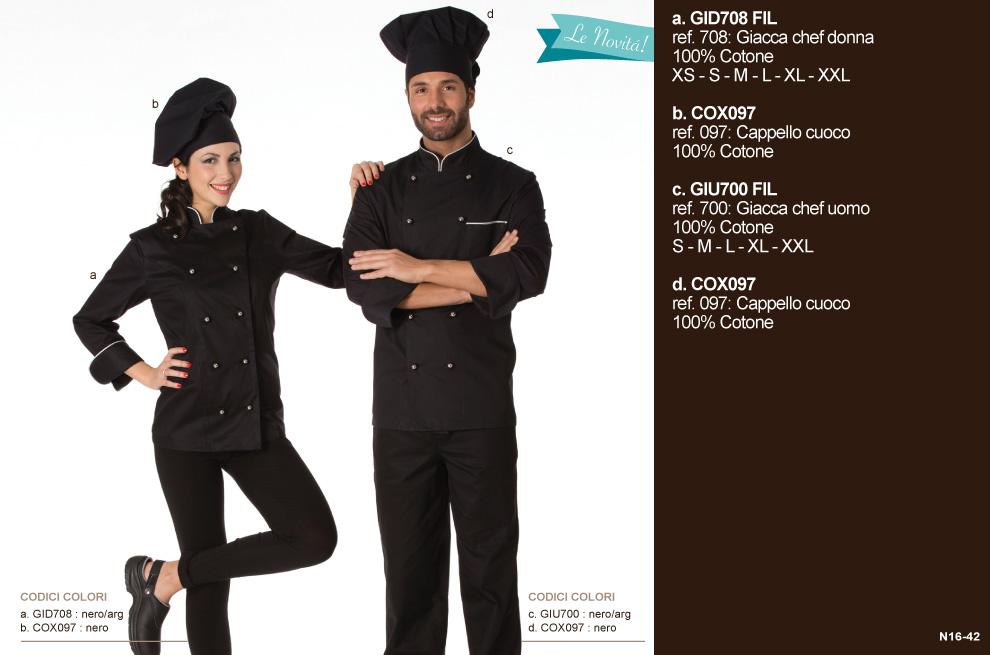 Giacche ‐ pantaloni cuoco ‐ divise maestro pasticcere.