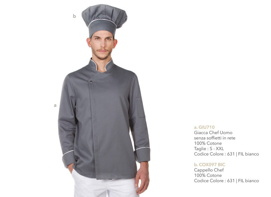 Abbigliamento Professionale Chef Cuoco Ristorante Giacche Pantaloni Cappelli Grembiuli