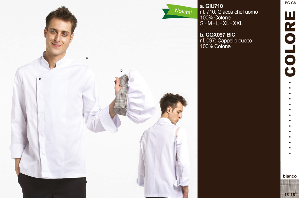 Uniformi cuoco Chef.