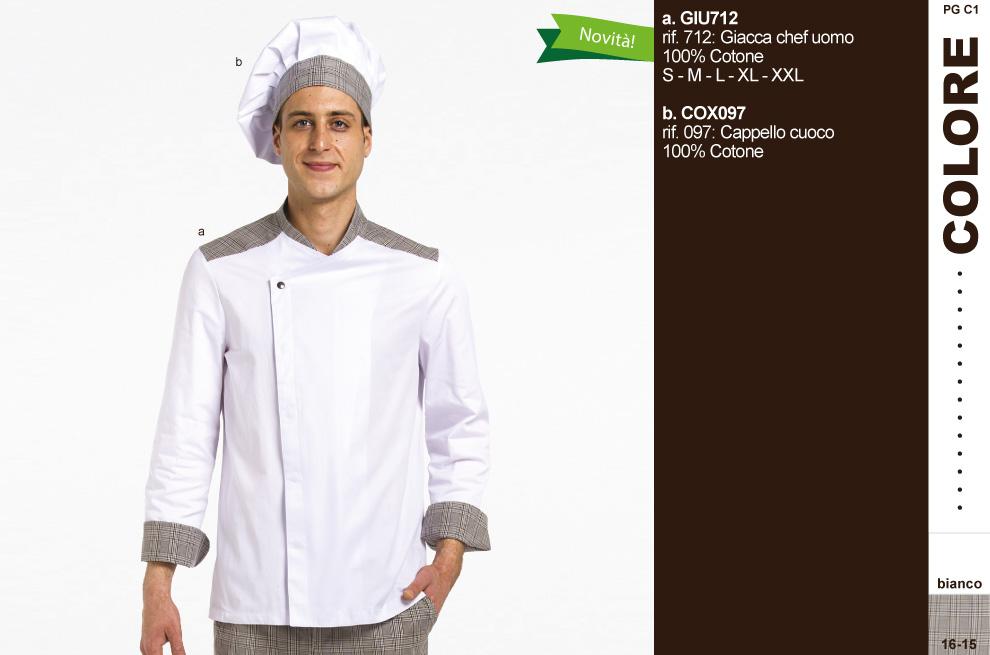 Abbigliamento professionale Chef cuoco ristornate  giacche pantaloni ... d924e0426023