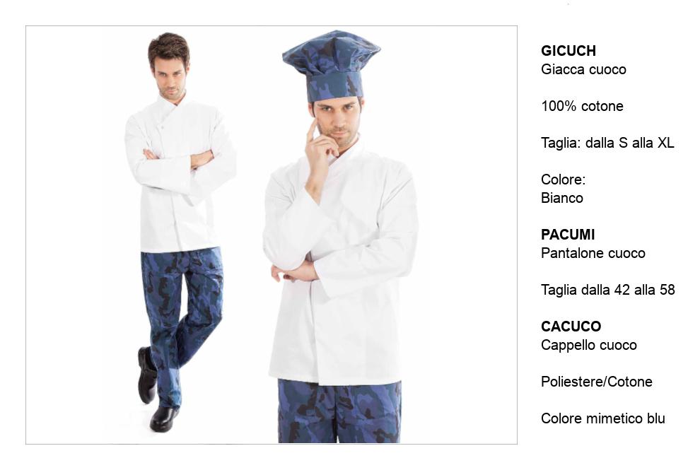 Uniformi cucine albergo ‐ abbigliamento cucine ristorante.