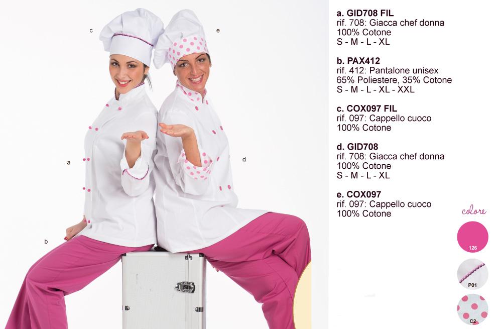 Cuoco trattoria ristorante: la divisa Made in Italy.