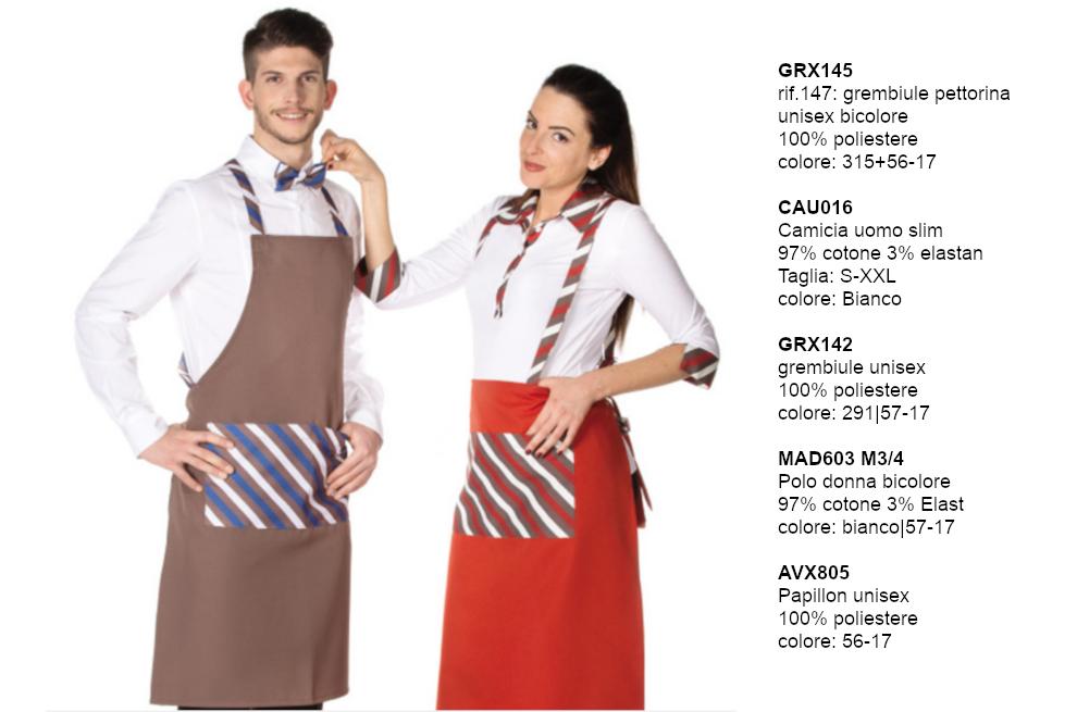 Abbigliamento gelateria|Polo camice pantaloni Made in Italy ‐Creativityclothingsxwork‐
