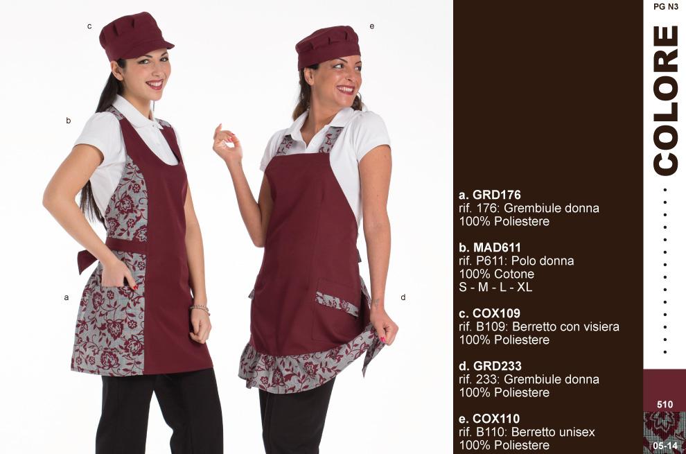 Divise, uniformi e abbigliamento professionale per gelateria.