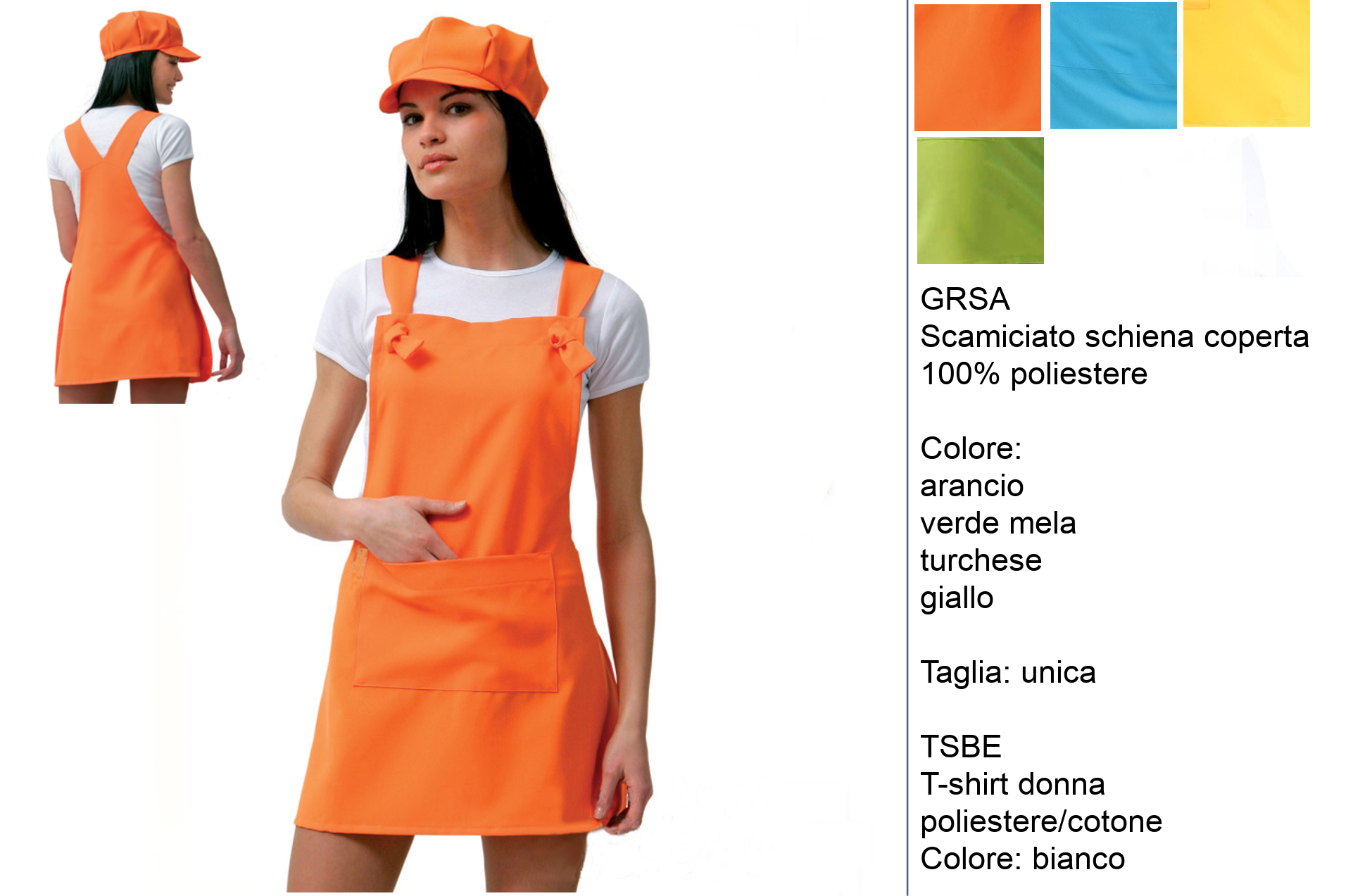 Divise per gelaterie-yogurterie ‐ Creativity clothingsxwork ‐