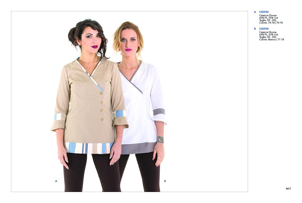 Creativity abbigliamento abiti e divise per estetiste centri estetici beauty-farm beauty -center wellness SPA