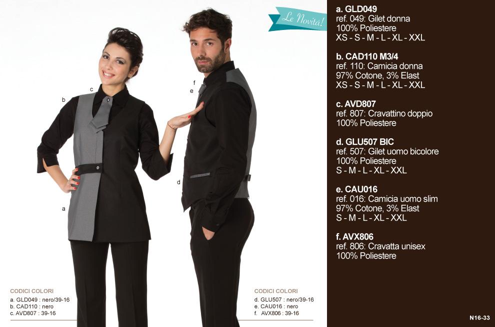 Abbigliamento reception albergo - Creativity clothingsxwork