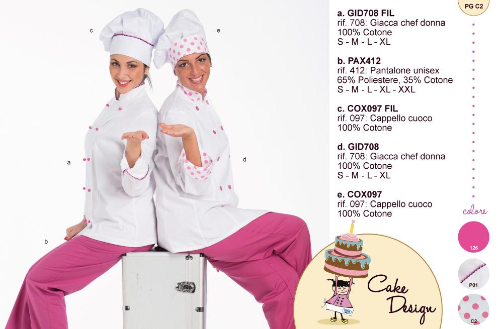 Divisa cake design completa di pantalone e cappello in abbinata.